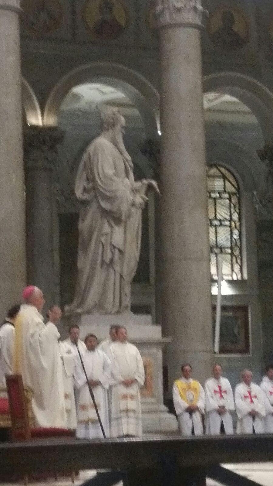 Die katholischen Templer Italiens zur Heiligen Messe mit dem Präsidenten des Päpstlichen Rates zur Förderung der Neuevangelisierung S.E. Rino Fisichella